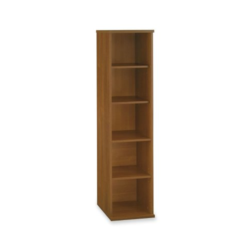 Bush Open Single Bookcases, 17-7/8-Inch by 15-3/8-Inch by 72-7/8-Inch, Warm (Open Single Bookcase)