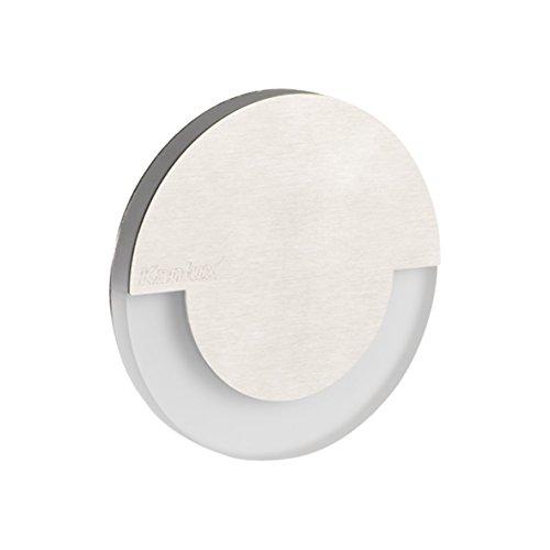 LED Wandeinbauleuchte für 60mm Schalter-Dose Stahl Einbauspot Dekoleuchte Treppenlicht Einbau Leuchte Stufenlicht Strahler (Sola warmweiß)