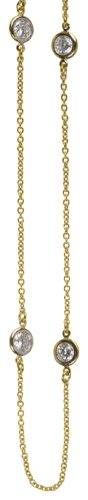 (Crislu Necklace, Gold Plated (4.75 cttw))