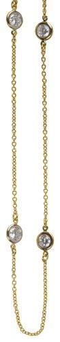 Crislu Necklace, Gold Plated (4.75 cttw)