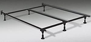 Amazon Com Heavy Duty King Metal Bed Frame With Center