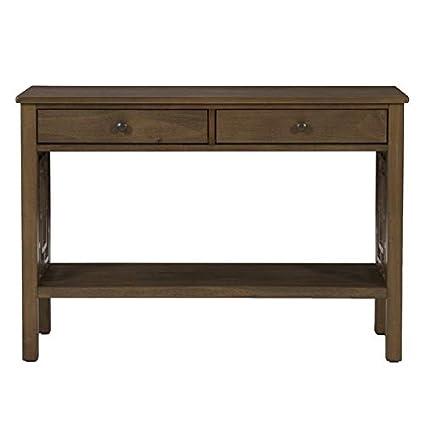 Amazon Com Wood Console Table 1 Shelf Pine Console Table 2