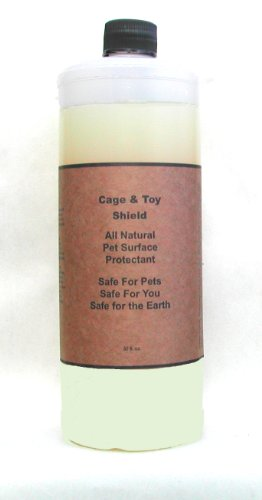 Natural Non-Stick, Habitat Surface Spray: Cage & Toy Shield with Odor Prevention for Birds, 32 Oz. - Parakeet Orange Sticks