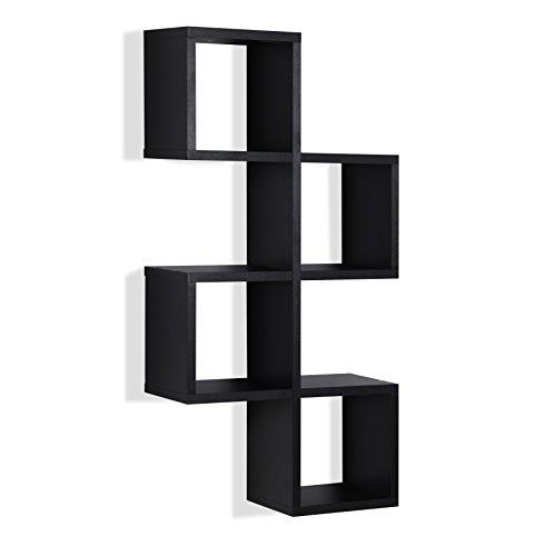 . Cubby Chessboard Wall Shelf – Black