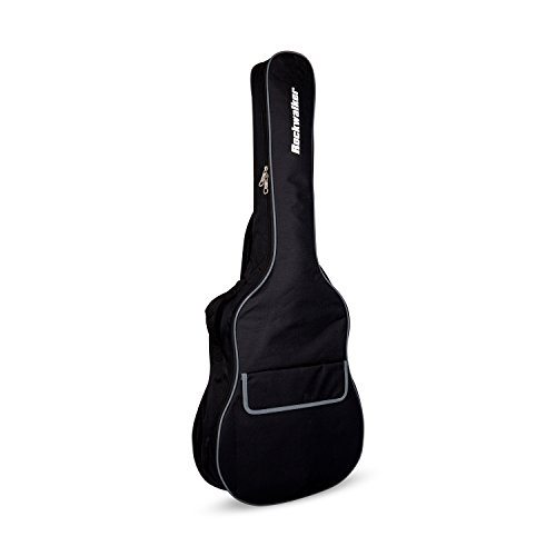 Rockwalker RWB10DBK Padded Dreadnought Guitar Gig Bag- Standard Series in (Series Dreadnought Guitar Case)