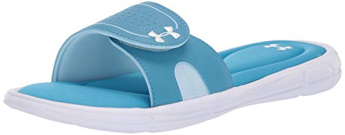 - Under Armour Women's Ignite VIII Slide Sandal, Ether (302)/Coded Blue, 7