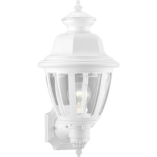 Light Beveled Wall (Progress Lighting P5737-30 Wall Lantern with Clear Beveled Acrylic Panels, White)