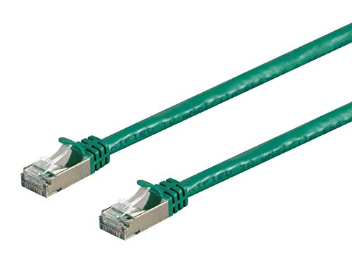 Cord Patch 10ft Cat5 Green (Monoprice Cat7 Ethernet Network Patch Cable - 10 feet - Green | 26AWG, Shielded, (S/FTP) - Entegrade Series)