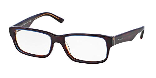 Eyeglasses Prada PR 16MV ZXH1O1 TORTOISE DENIM DEMO LENS 55mm