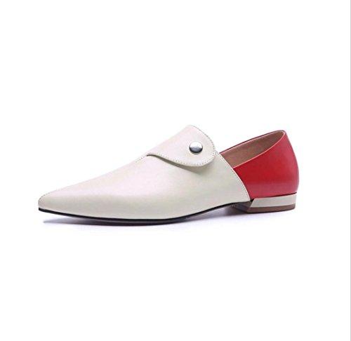 Sandales Talons Wsk De Chaussures With 2cm En Compensées Pour Épais Cuir Types Pointues Hauts Apricot 3 Femmes RggdxS