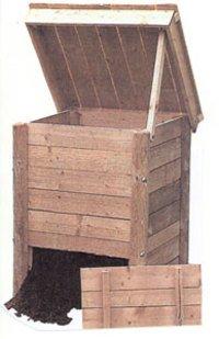 700l-Compostador de madera con caña: Amazon.es: Jardín