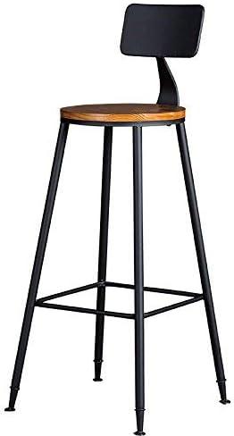 SED Silla - Retro Bar Taburete Bar de Hierro Silla Juego de Mesa Bar Silla Restaurante Ktv Madera Maciza Mesa Alta Mesa Redonda Respaldo Silla de Bar Alto Taburete casero para Adultos: