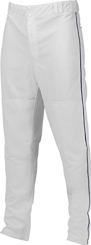 Marucci Youth Elite Double Knit Piped Baseball Pant, White/Navy, XX-Large