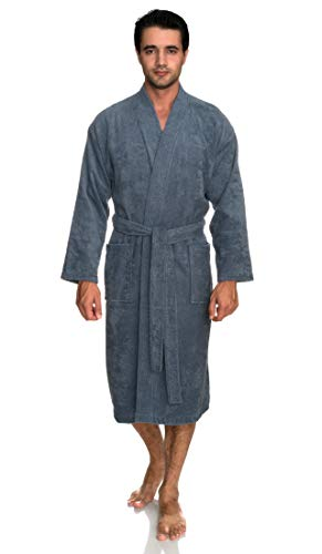 TowelSelections Men's Robe, Turkish Cotton Terry Kimono Bathrobe X-Large/XX-Large Bering - Hoodie Chenille Jacket