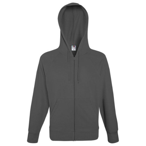 Graphite Light Fruit of Hombre Hooded the Loom sudadera Grigio qHw08qTF