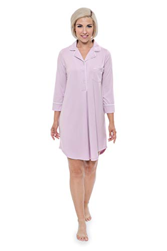 Women's Nightshirt in Bamboo Viscose (Zenrest, Lavender Fog, Large) Gift Suggestions for Her WB0475-LVF-L