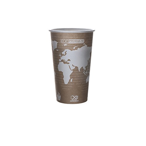Eco-Products EPBHC20WA World Art Renewable Compostable Hot Cups, 20 oz., 50 Per Pack (Case of 20 Packs) by Eco-Products, Inc