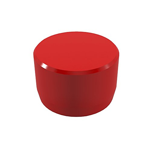 Pipe Pvc Red (FORMUFIT F034EEC-RD-10 PVC External End Cap, Furniture Grade, 3/4