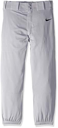(NIKE Boys' Core Baseball Pants, Wolf Grey/Black, Small)