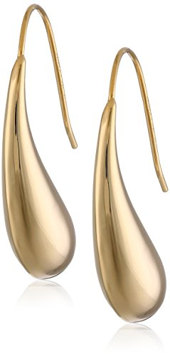 18k Yellow Gold Plated Sterling Silver Teardrop Earrings