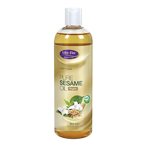 Life-Flo Organic Pure Sesame Oil, 16 Ounce (Benefits Of Oil Pulling With Sesame Oil)