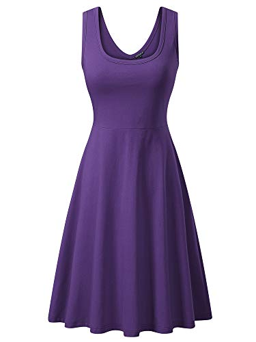 FENSACE Women's Sleeveless A line Waistline Midi Dress Daphne -