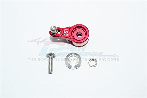 Traxxas TRX-4 Trail Defender Crawler / TRX-6 Mercedes-Benz G63 Upgrade Parts Aluminum Servo Horn with Built-In Spring (For Locking Diff) - 1Pc Set Red