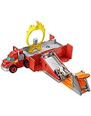Fisher-Price GYD04 - Blaze en de Monster Machines Stunt Transporter, voertuig en speelset met die-cast monstertruck, leeftijd 3+