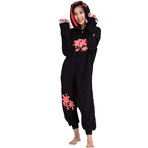 SHANGXIAN Gloomy Bear Cosplay Pajamas Adult Unisex Onesies Animal Sleepwear Halloween Costume,Black,L -