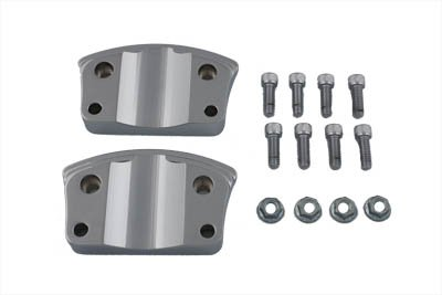 Chrome Fender Mount Adapter Brackets for Harley Davidson Touring (Chrome Fender Mount)