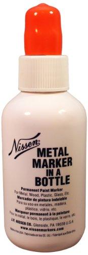 """UPC 606160004263, Nissen MBORM Metal Ball Point Marker in Plastic Bottle, 1/8"""" Tip, Orange (Pack of 12)"""
