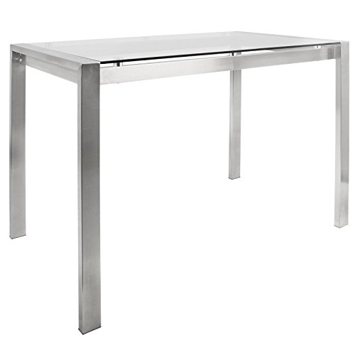 WOYBR CT SS+GLS Stainless Steel, Glass Fuji Counter Table