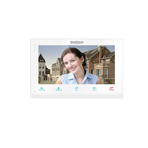 TMEZON 7 Inch Wired Video Door Phone Intercom Entry System Single Monitor Just Work with MZ-IP-V103W/VDP-NA100-1/1 Video Doorbell Camera