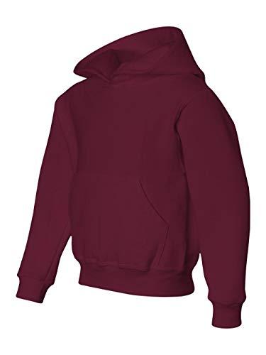 Hoodie Maroon Youth (Jerzees Youth NuBlend� Hooded Pullover Sweatshirt (Maroon) (X-Large))