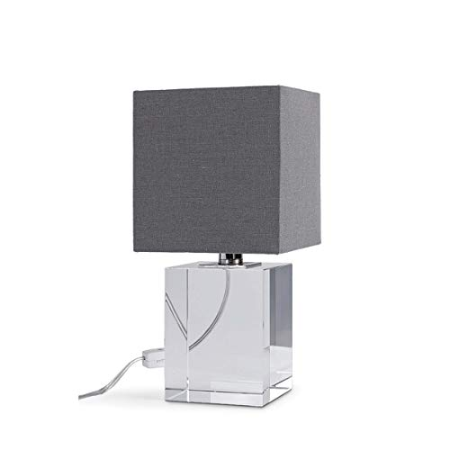 Regina Andrew Crystal Block Mini Decorative Table Lamp | Standing 12 inches Tall with Single 60 Watt Max Socket and Linen Shade for a Living Room or Bedroom