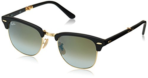 Ray-Ban Clubmaster Folding Square Sunglasses, Matte Black, 51 - Master Ban Ray Sunglasses Club