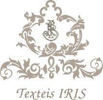 100/% Leinen creme // grau- taupe Patricia Riscas Nostalgie Geschirrtuch Texteis Iris 50 x 70cm