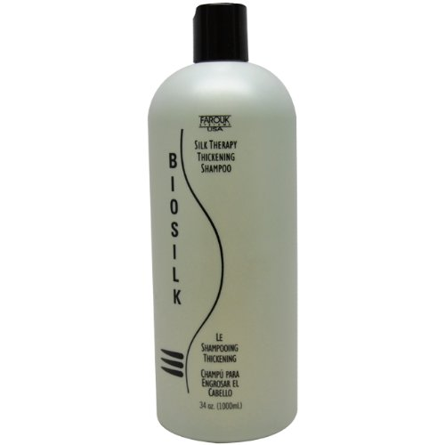 Biosilk Silk Therapy Thickening Shampoo for Unisex, 34 Ounce Silk Therapy Thickening Shampoo