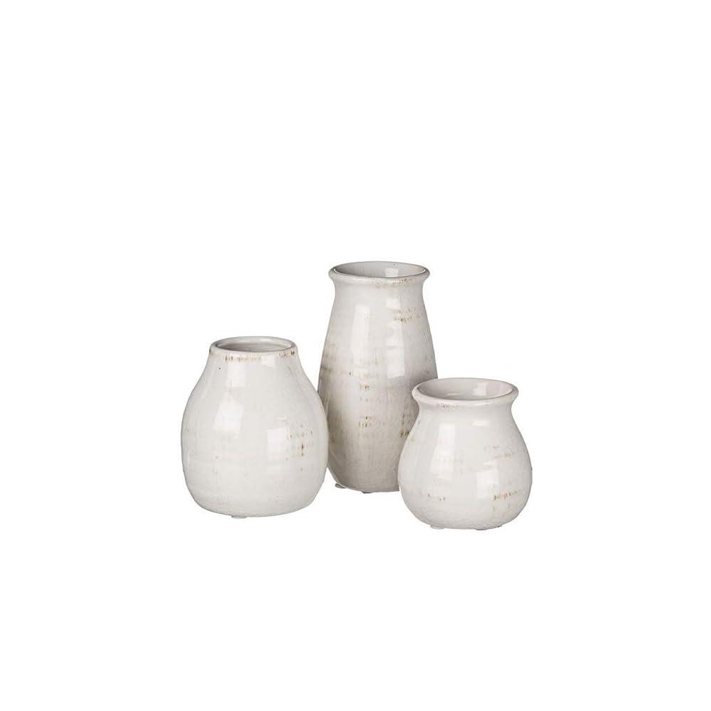 Sullivans Ceramic Vase Set- 3 Small Vases, Rustic Home Décor, Modern Farmhouses; Ideal Shelf Décor, Table Décor…