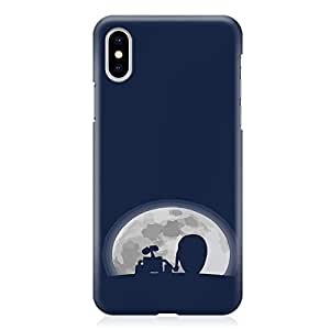 Loud Universe Wall E Story Friends iPhone XS Case Moon Friends iPhone XS Cover with 3d Wrap around Edges