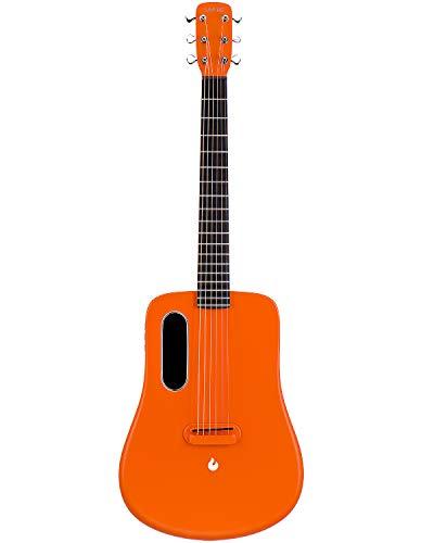 LAVA ME 2 Electric Guitar, 36-inch carbon fiber guitar, Beginner Guitar, Travel Guitar, Bundle with ideal Bag and ideal Picks (Freeboost-Orange)