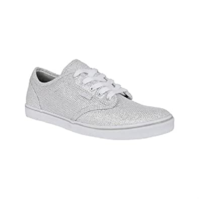 Vans Womens Atwood Low Glitter Trainers Silver White 6.5  Amazon.co ... a523b38a70