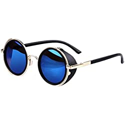 eshion Retro Vintage Fashion Round Arrow Style Metal Frame Sunglasses Eyewear