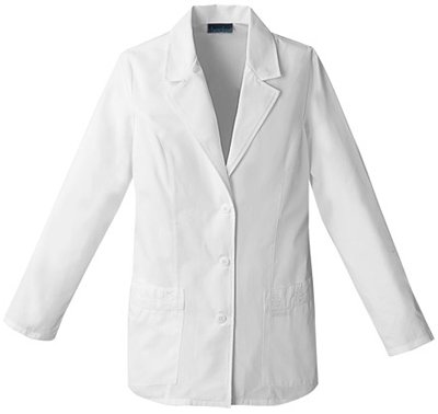 Cherokee Professional Whites by Women's Daisy Embroidered 29&Frac12; Lab Coat X-Large White (Poplin Coat Lab)