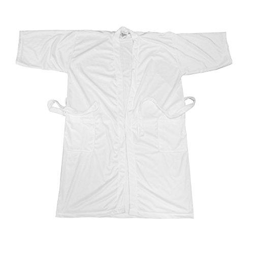 Canyon Rose Cloud 9 Women's Plush Microfiber Full Length Spa Robe, White Willow, XL