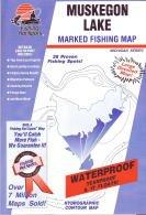 Muskegon Lake, Michigan Fishing Map PDF