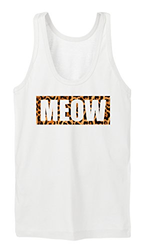 Meow Leo Tanktop Girls Blanc