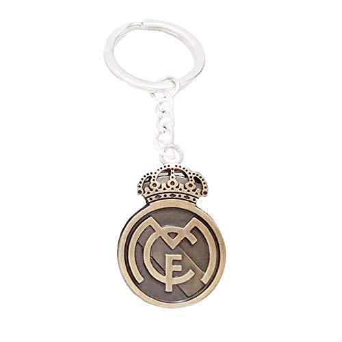 ZQfans Real Madrid,FC Barcelona Keychain Football Club Team Metal Keychain Gift for Football Fans (Real Madrid) (Metal Real Madrid Keychain)