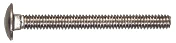 8-Pack The Hillman Group 3510 3//8-16 By 1-1//2-Inch Stainless Steel Carriage Bolt
