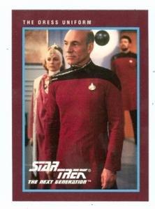 (Star Trek The Next Generation card #266 The Dress Uniform Captain Jean Luc Picard Patrick)